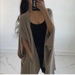 Sweaters - •Reposh• oversized poncho taupe cardi